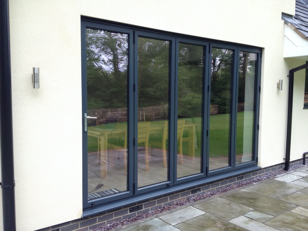 Five Pane Bifold Installed Into A New Extension.
